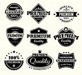 Vintage Premium Quality and Satisfaction Guarantee Label collection poster