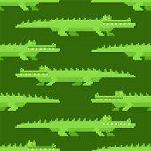 Crocodile pattern seamless. Alligator background. croc reptile vector illustration. poster
