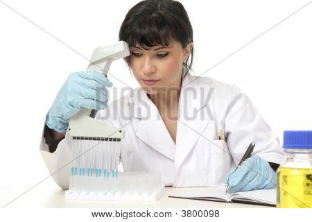 Scientist Documenting Lab Results