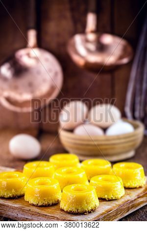 Sweet Made From Egg Yolk, Called In Brazil Quindim, And In Portugal Brisa-do-lis.