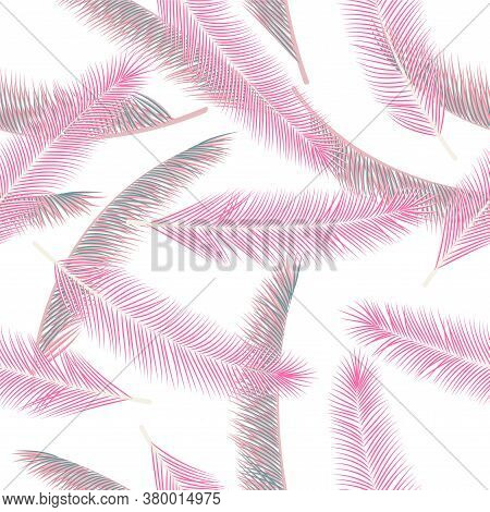 Natural Feather Plumelet Vector Ornament. Pretty Wrapping Paper. Ethnic Aztec Feather Plumelet Texti
