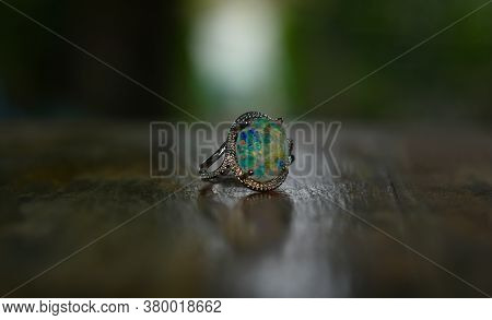 Opal Is A Silver Ring With Gemstones Opal.