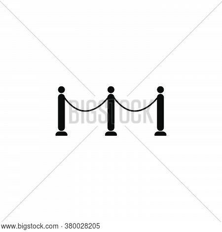 Queue Icon, Symbol Line Design Template