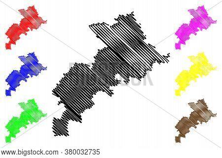 Haute-garonne Department (france, French Republic, Occitanie Or Occitania Region) Map Vector Illustr