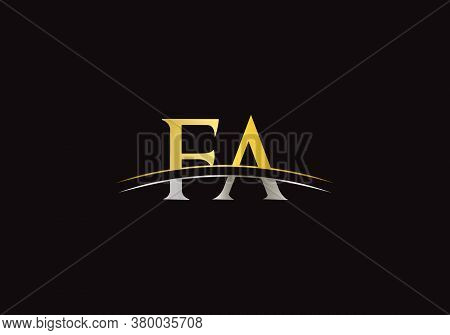 Fa Letter Linked Logo For Business And Company Identity. Creative Letter Fa Logo Vector Template.