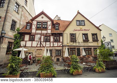 Zum Gulden Stern, Nuremberg, Germany - Apr 27, 2014: The Oldest Bratwurst Tavern Existing In One Pla