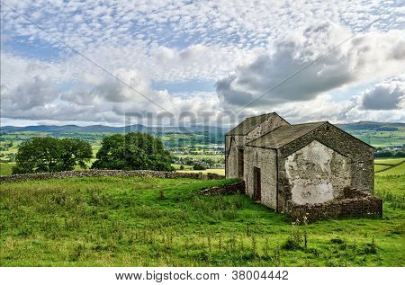 Old English stone barns