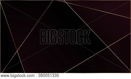 Red Premium Triangular Pattern. Elegant Dark Platinum Chic Shapes Poster Gold Lines Polygon Luxury F