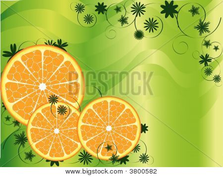Abstract Fruit Orange  Background