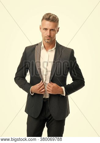 Confident And Classy Every Day. Elegant Businessman Isolated On White. Businessman In Tuxedo. Handso