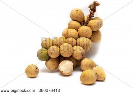 Thai Fruit,wollongong Isolated On White Background.
