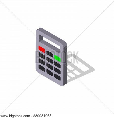 Calculator Vector Icon.isometric Vector Illustration. - Vector Eps