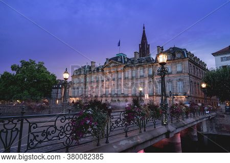 Evening In The France City Strasbourg, August 1 2020