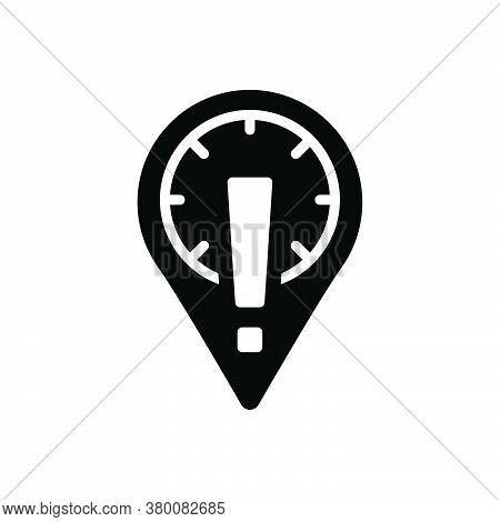 Black Solid Icon For Information-placeholder-with-exclamation-sign Direction Warning Information Ale
