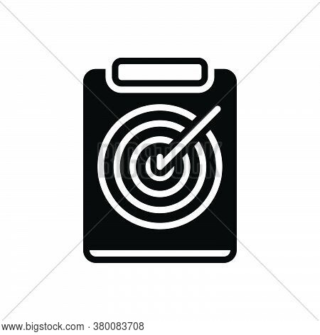 Black Solid Icon For Archery-note Chart Document Target Destination Ambition Accurate Archery Goal F