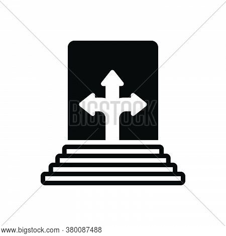 Black Solid Icon For Possibility Probability Potential Potentiality Cross