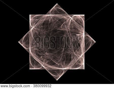 Abstract Space Of Moving Sharp Triangles. Animation. Dark Sharp Triangles Cutting Through Space. Bro