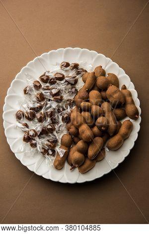 Imli Sweet Balls Or Tamarind Candy, Indian Food