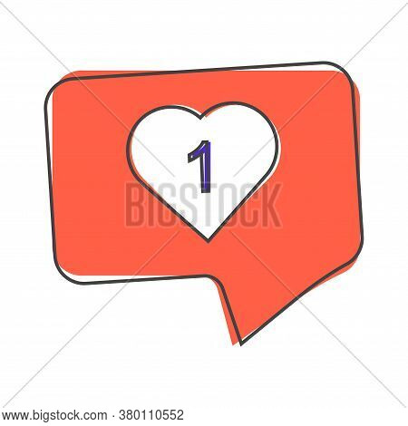 Like, Comment, Social Activity Vector Icon. The Hand Presses Cartoon Style On White Isolated Backgro