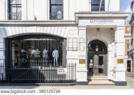 June 2020. London. Saville Row In St James, London, England Uk Europe