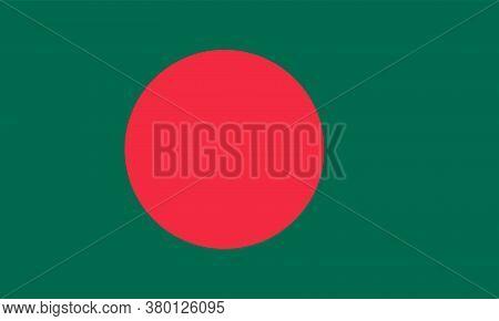 Bangladesh Flag. Official Colors. Correct Proportion. Vector Illustration