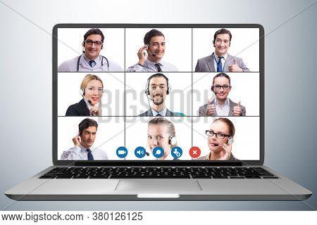 Concept of virtual collaboration through videoconferencing