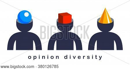 Opinion Diversity Vector Concept, Different Perspectives Metaphor, Alternative Worldview Point Of Vi