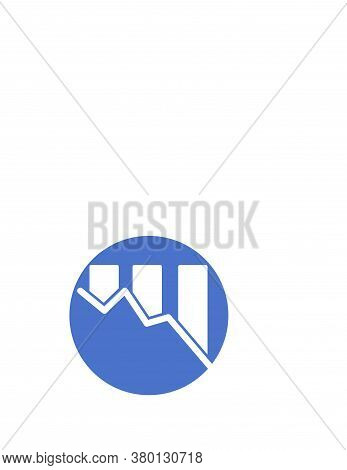Decrease Financial Condition Graphic Logo And Vector Icon