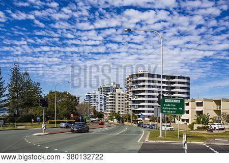 Mooloolaba, Australia - Aug 9, 2020view Of The Esplanade, The Main Coastal Avenue, Of Mooloolaba, Qu