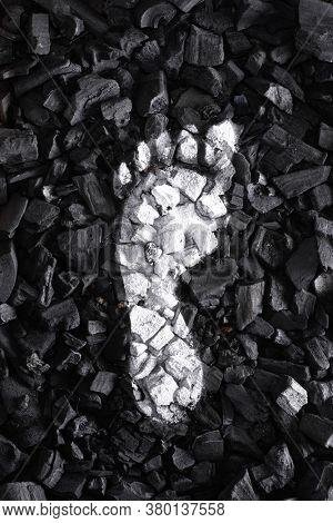 White Coal Carbon footprint concept