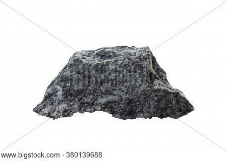 Gneiss Stone Isolated On White Background Included Clipping Path.