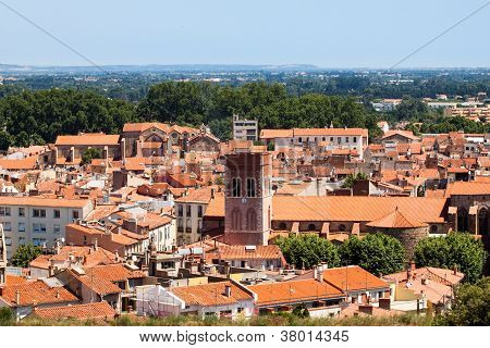 Red Roofs Of Perpignan,  France
