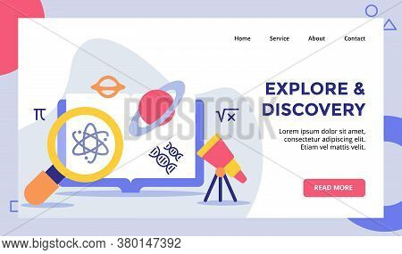 Explore And Discovery Lupe Magnifying Atom Telescope Campaign For Web Website Home Homepage Landing