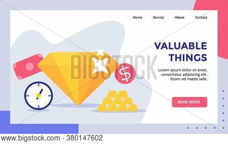 Valuable Things Shiny Diamond Campaign For Web Website Home Homepage Landing Page Template Banner Wi