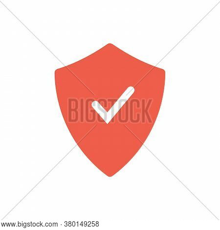 Security Shield Icon. Shield With A Checkmark In The Middle Protection Icon Concept. Stock Vector Il