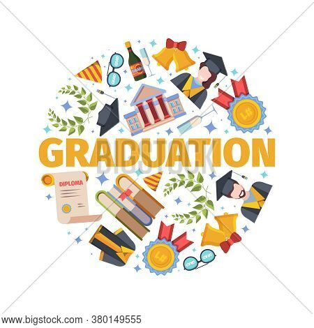 Highly Anticipated Graduation Concept. Joyful Holiday For New Scientists And Workers Successful Defe