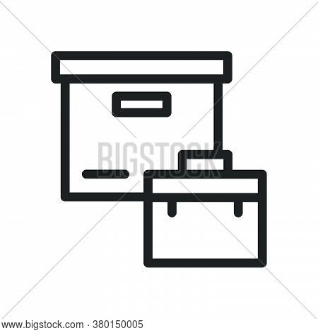 Parcel Portfolio Icon For Website Design And Desktop Envelopment, Development. Premium Pack.