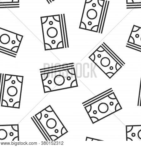 Dollar Currency Banknote Icon In Flat Style. Dollar Cash Vector Illustration On White Isolated Backg