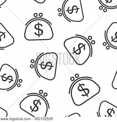 Money Bag Icon In Flat Style. Moneybag With Dollar Vector Illustration On White Isolated Background.
