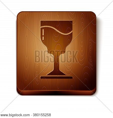Brown Wine Glass Icon Isolated On White Background. Wineglass Icon. Goblet Symbol. Glassware Sign. H