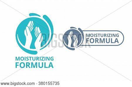 Skin Moisturizing Formula Pictogram  - Emblem For Anti-age And Anti Wrickles Cosmetics Marking - Gel