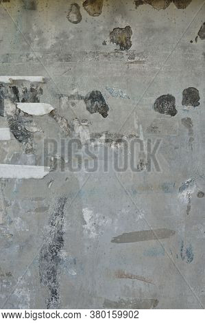Grunge Torn Posters, Papers And Stickers On Wall Abstract Background