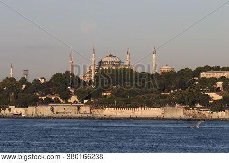 Hagia Sophia Mosque In Istanbul City, Turkey
