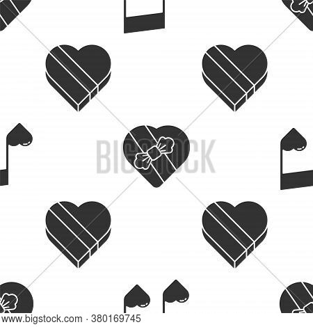 Set Music Note, Tone With Hearts, Candy In Heart Shaped Box And Candy In Heart Shaped Box On Seamles