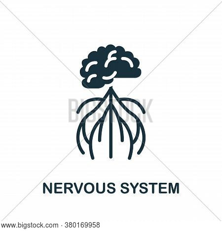 Nervous System Icon. Simple Element From Internal Organs Collection. Creative Nervous System Icon Fo