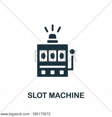 Slot Machine Icon. Simple Element From Casino Collection. Creative Slot Machine Icon For Web Design,