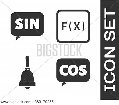 Set Mathematics Function Cosine, Mathematics Function Sine, Ringing Bell And Function Mathematical S