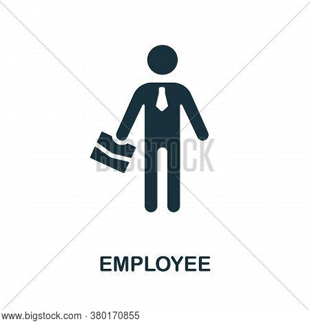 Employee Icon. Simple Element From Business Recruitment Collection. Creative Employee Icon For Web D