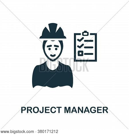 Project Manager Icon. Simple Element From Business Intelligence Collection. Creative Project Manager