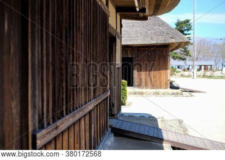 Wall Texture Of Traditional Japanese Houses At Hitachi Seaside Park ,old Miharashi Village Surroundi